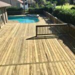 Custom wood pool deck Brevard County FL