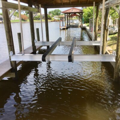 Custom Boat Lift Installation, Boat House, Custom Dock