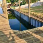 Custom Boat Dock with Seawall and Deck
