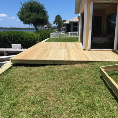Custom Back Deck, Brevard County Backyard Decks