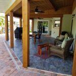 Custom Wood Ceiling, Lanai for Outdoor Porch and Pool Area