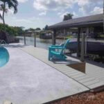 Custom Composite Deck with Seawall and Boathouse