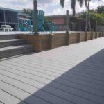 Custom Composite deck with Wood Bulkhead level walls