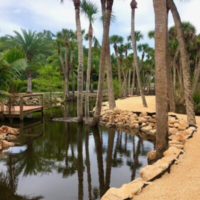 Fresh Water Pond with Bulkhead Landscaping and Observation deck