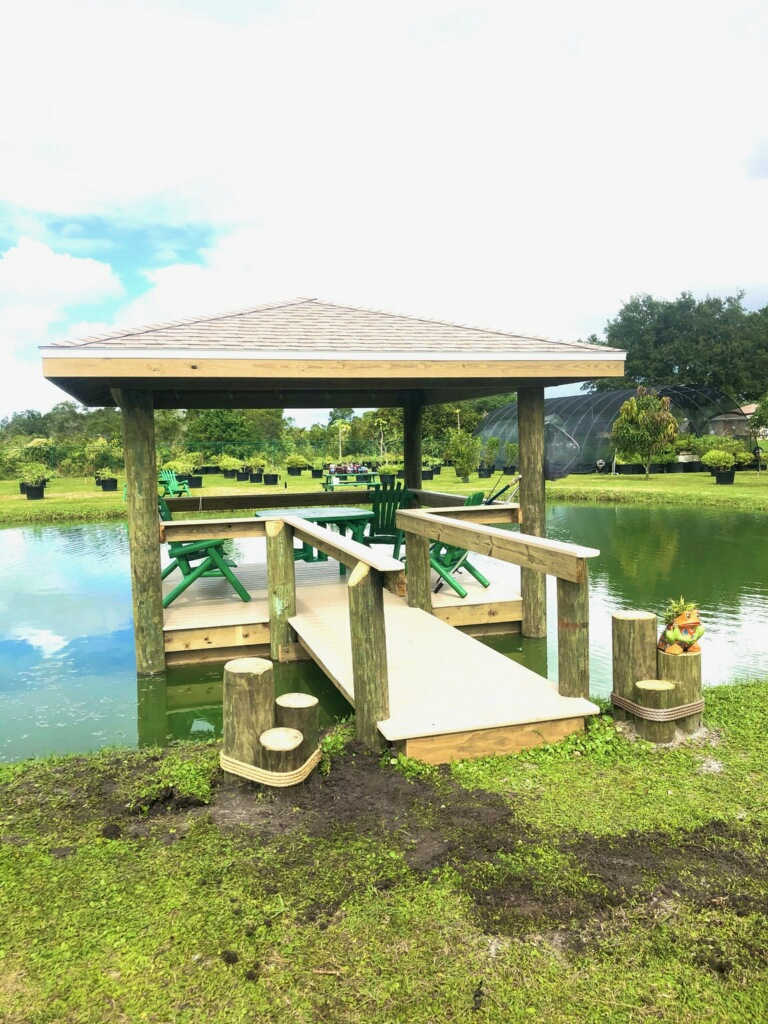 Lake Home Dock and Covered Viewing deck with railings