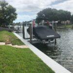Narrow Dock and Boat Lift Installation