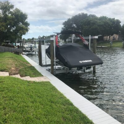 Narrow Dock and Boat Lift Installation